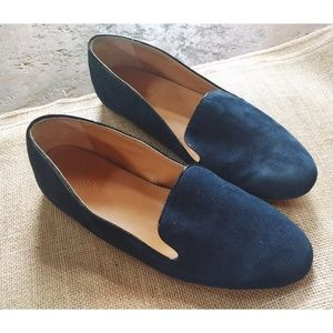 J.Crew Navy Addie Suede Loafers
